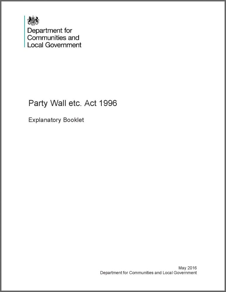 Download the Government Party Wall Booklet